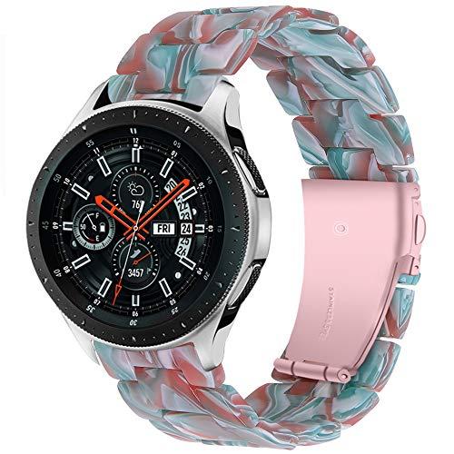 Miimall - Correa de reloj de resina para Huawei Watch GT2 46mm/GT 2E/GT2 Pro, 22 mm, correa de repuesto para Samsung Gear S3 Classic/Frontier - Color crema