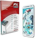 atFolix Schutzfolie kompatibel mit Motorola Moto X Style Folie, ultraklare & Flexible FX Bildschirmschutzfolie (3X)