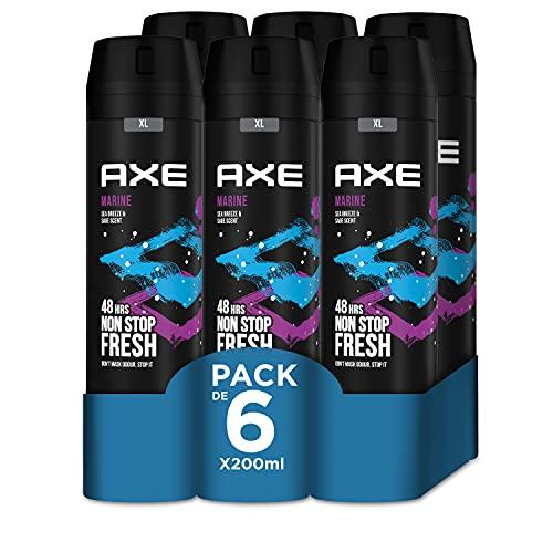 Axe Bodyspray Marine - Desodorante, pack de 6 x 200 ml