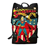 Henry Cavill DC Universo Superhéroe Superman Liga de la Justicia Mochila de Tableta Simple Mochila Trabajador de Oficina Compras Impresión 3D Pascua