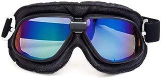 QTDS Gafas de Ciclismo de Color Big Dazzle Gafas de Cross-Country Gafas de Harley Gafas Retro para Deportes al Aire Libre (Color