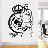 wukongsun Vinyl Wandkunst Aufkleber Fußball Mr. Mural Jungen Wohnzimmer Wanddekoration 104 cm X 77 cm