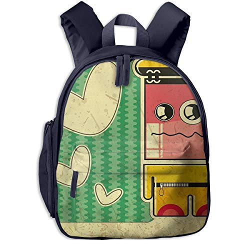 Children's Backpacks Sad Game Boy Students School Bag Child Kids Casual Daypack Sports Travel Outdoor, Lightweight, for Boys Girls