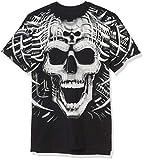 Liquid Blue Men's Psycho Skull T-Shirt, Black, X-Large