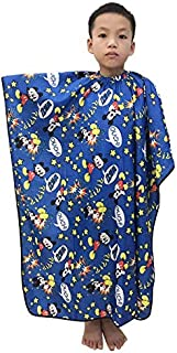 KaHot Haircut Salon Hairdressing Cape for Kids Child Styling Polyester Smock Cover Waterproof Shampoo & Cutting Household Capes with Snap Closure,35