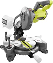RYOBI 18-Volt ONE+ Cordless 7-1/4 in. Compound Miter Saw (Tool Only) with Blade (Renewed)