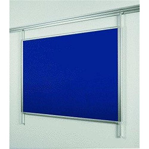 Legamaster 7-321571 Pinboard Textil für Legaline Dynamic Schienensystem, 100 x 120 cm, eloxierter Aluminiumrahmen, blaue Fläche