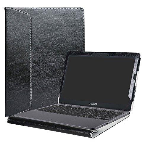 Alapmk Specialmente Progettato PU Custodia Protettiva in Pelle Per 11.6  ASUS VivoBook E203NA E200HA L200HA Chromebook C201 C201PA Series Notebook,Nero