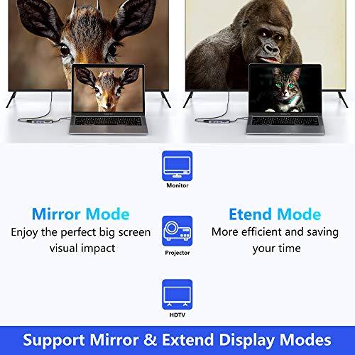 USB C Adapter, Selore USB-C auf HDMI 4K, USB 3.0, SD/TF-Kartenleser, 6-in-1 Multiport Hub für MacBook Pro 2020 MacBook Air 2020 Huawei Matebook ChromeBook Pixel Tablet USB Typ C