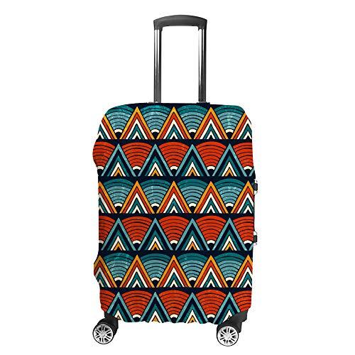 Ruchen - Funda para Maleta, diseño Tribal, con geometría Triangular y Vibrante,...