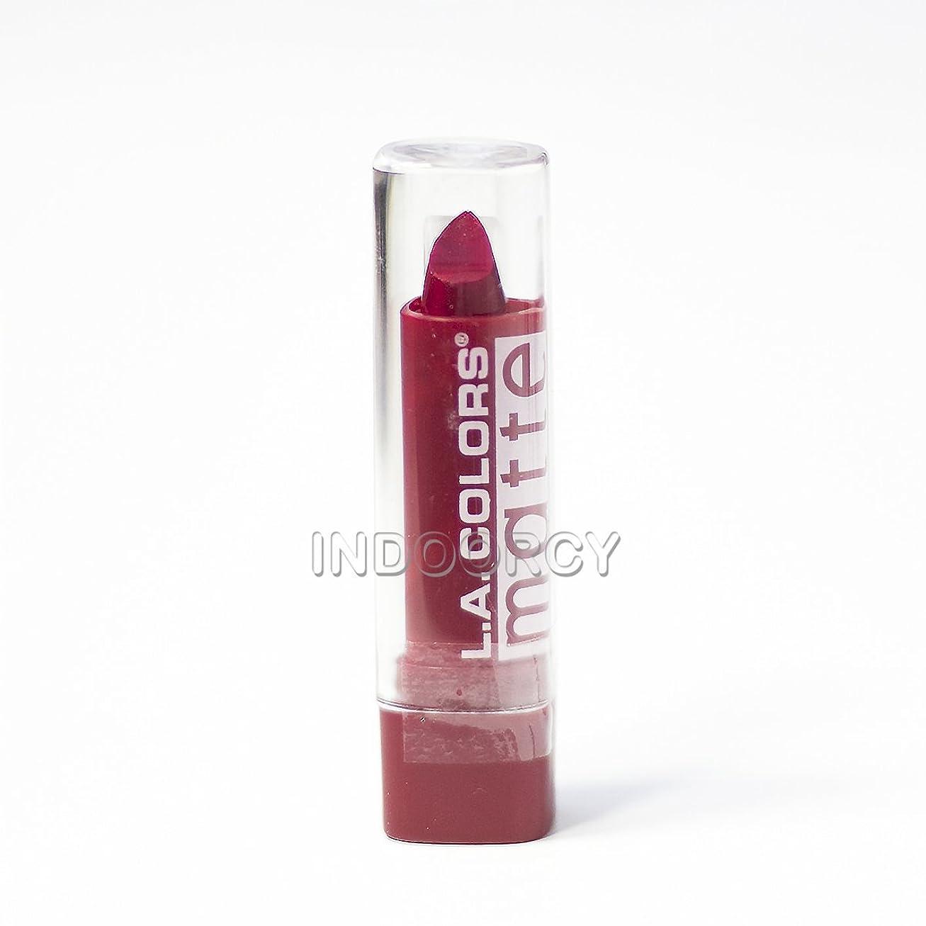 選挙排他的カルシウムL.A. COLORS Matte Lip Color - Relentless Red (並行輸入品)