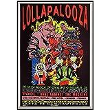 DrCor Lollapalooza Musikfestival Wandkunst Poster Malerei