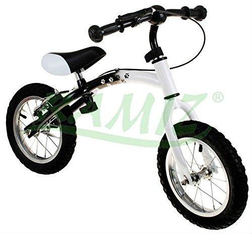 Kinder Laufrad BUMERANG WB-06CR AIR - ab 2 - 6 Jahren - 10 - 12 Zoll - einstellbar Fahrradrahmen - Kinderlaufrad - First Bike - Weiss