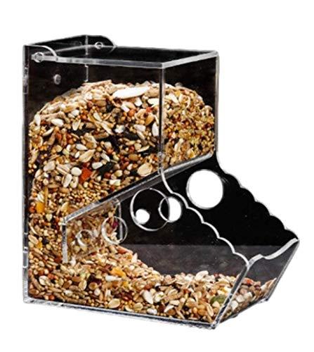 ENN LLC ハムスター 飼育 餌入れ 固定 透明 掃除しやすい 食べ物 自動給餌器 (B)