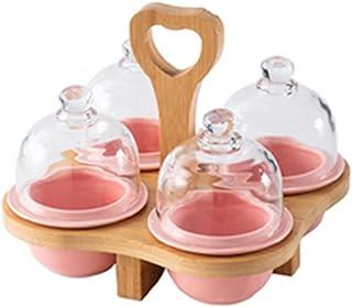 طبق تقديم للمقبلات صحن تقديم المكسرات طبق وجبات خفيفة مع غطاء طبق مقبلات صواني تقديم الفواكه