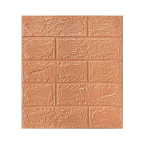 Adhesivo de pared, impermeable, autoadhesivo, de espuma de polietileno, resistente al aceite, anticolisiones, patrón de azulejos 3D, para sala de estar, café, 5 mm