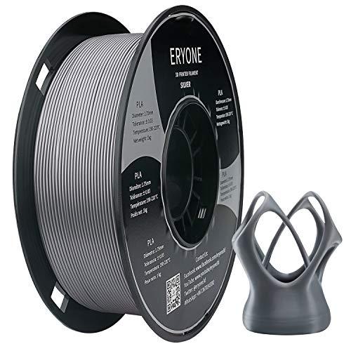 ERYONE PLA Filamnet 1.75mm 3D Drucker Material Pringting Filament PLA 1kg / roll, Silver Color