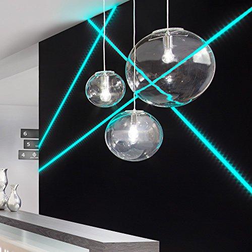 s.LUCE Orb Pendelleuchte Ø 40 cm Klar Pendellampe Glaslampe klassische Glaslampe Kugelleuchte aus Klarglas
