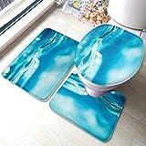 XHYYY - Juego de alfombra de baño con fondo de luz y antideslizante para piscina