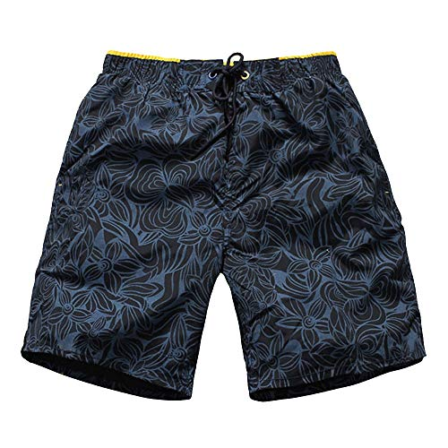 JTRHD Shorts de baño para Hombre Ligero Pantalones Cortos de Playa para Hombre Lightweight Hombres Ropa de Playa Troncos de natación Traje de baño Verano Natación (Color : Blue, Size : XXL)