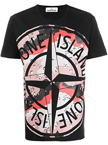 Luxury Fashion | Stone Island Heren 721523386V0029 Zwart Katoen T-shirts | Lente-zomer 20