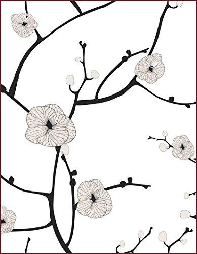 Schön und Wieder Fensterfolie Opolux - Selbstklebend - Bedruckt - Sichtschutz (Stilisierte Blumen, 30 x 40 cm)