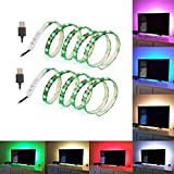 (2-Pack) SOLLED Bias Lighting for HDTV 60 LEDs TV Backlight, 3.28Ft Ambient TV...