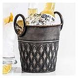 Bucket de hielo Almacenamiento de escritorio Cubo de hierro Whisky Champagne Cerveza congelación Cocina Cocina Barras Accesorios Retro Hielo enfriador Decoración