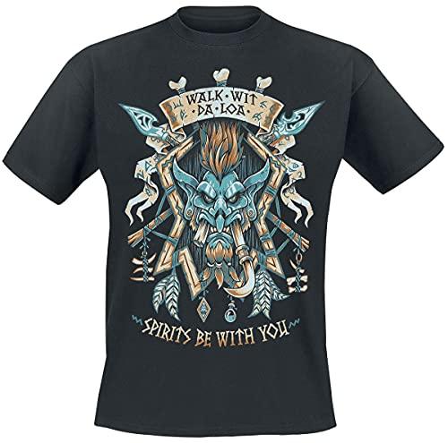 World of Warcraft Legion Voljin Memorial Hombre Camiseta Negro XL, 100% algodón, Regular