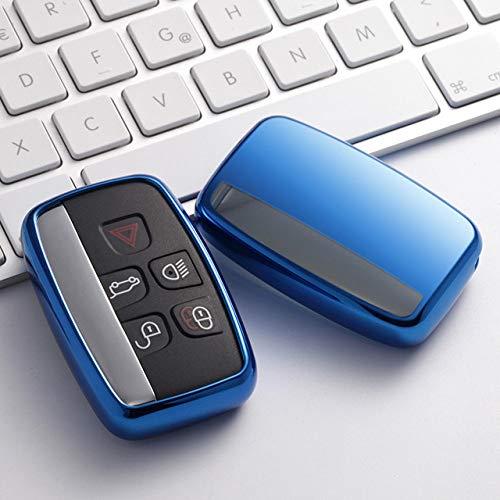 NZGMA Car Key Cover Zachte TPU case voor autosleutel met afstandsbediening beschermhoes voor Land Rover LR4 Jaguar XK XKR XF XFR XJ smart car key cover XJL