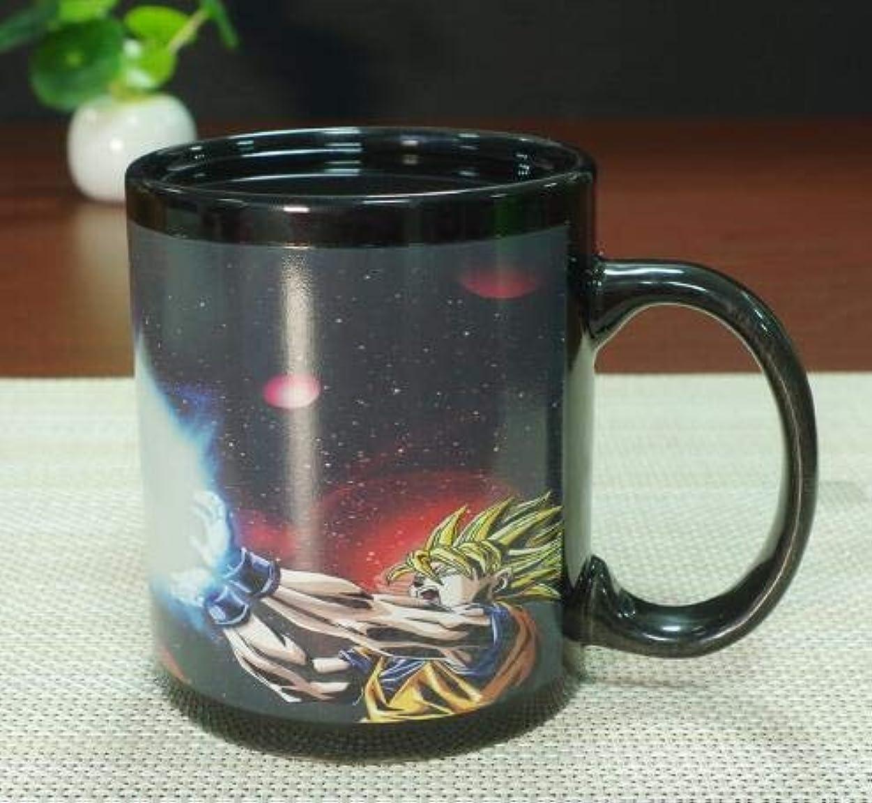 ライオン貫通するキャベツドラゴンボール 一体型 セラミック 熱反応性 色が変わる コーヒーマグカップ 誕生日プレゼント
