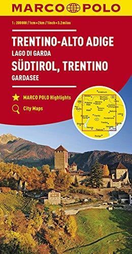 MARCO POLO Karte Italien Blatt 3 Südtirol, Trentino, Gardasee 1:200 000: Wegenkaart 1:200 000 (MARCO POLO Karten 1:200.000)