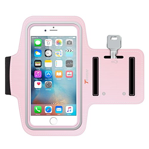 Trianium iPhone 6S Armband, ArmTrek Sports Exercise Armband for Apple iPhone 6 | iPhone 6S Case Running Pouch Touch Compatible Key Holder [Pink] Good for Hiking,Biking,Walking