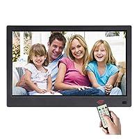 デジタルフォトフレーム13インチIPSスクリーンUSB SDカードスロットおよびリモートコントロールデジタルフォトフレームHD 16:9ワイドスクリーン付きデジタルフォトフレーム,13inches-black