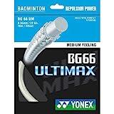 Yonex BG-66 Ultimax Badminton String - 10m Set, Color- White