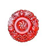 JHSM Colgante de Jade Collar de Jade Colgante de Jade Collar de Jade Xinjiang y Tian Color de Sangre de Pollo Colgante de Jade Hombres y Mujeres Adornos de joyería joyería de jad