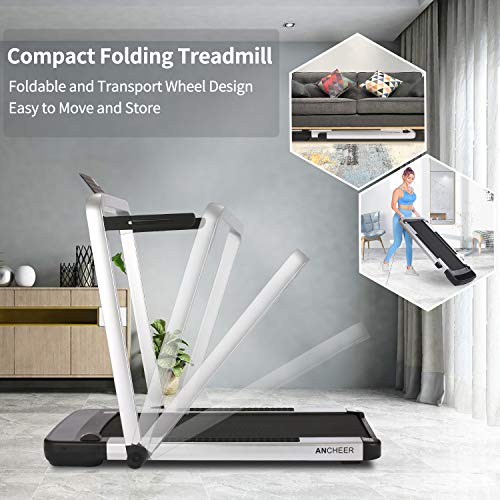 Product Image 7: ANCHEER Home Treadmill,2.25HP 2 in 1 Folding Treadmill,Under Desk Electric Treadmill with APP, Remote Control and LED Display, Jogging Walking Exercise Fitness Machine for Family & Office Workout