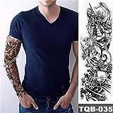 tzxdbh 5pcs- Etiqueta del Tatuaje del cráneo del Estilo del Tatuaje Ojos pájaro Vez en la Big Mangas del Brazo del Arte de Cuerpo Grande Etiqueta engomada del Tatuaje en De
