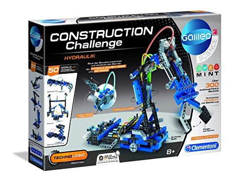 Clementoni 59132 Galileo Science - Construction Challenge Hidráulico Kit de Montaje de Brazo Hidráulico Mecánico & Técnica Juguetes para niños a Partir de 8 años
