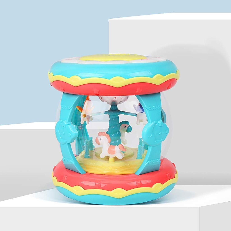 Envio gratis en todas las ordenes LIPENG-TOY Bebé Música Tambores de Mano Juguetes Niños Pat Pat Pat Tambor Educación temprana Rompecabezas 1 año de Edad 0-6-12 Meses Bebé 3 ReCochegable (Color   Azul)  Las ventas en línea ahorran un 70%.