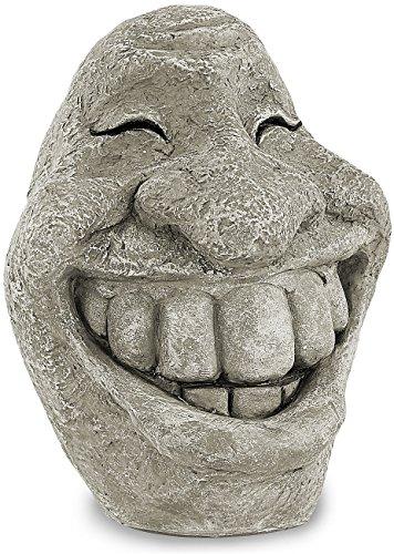 Royal Gardineer Garten Deko: Steingesicht Smiley (Gartenfigur)