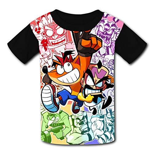 Ven-om Kinder-T-Shirt, bequem, 3D-Grafik, kurzärmelig, für Jungen und Mädchen Gr. S, Crash's Ba-ndi-coot