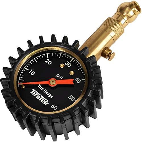 TireTek Tire Pressure Gauge 0 60 PSI Heavy Duty Air Pressure Gauge ANSI Certified Accurate with product image