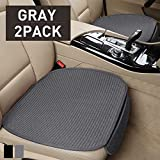 hikeaglauto Car Seat Cushion Cover Pad Mat for Auto Supplies Universal Anti-Slip, Prevent Leather Seats from Burning in Summer & Jeans Fading(2Pcs Gray)