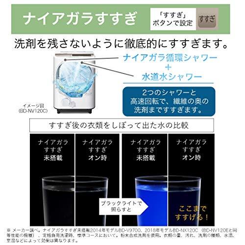 日立ドラム式洗濯乾燥機ビッグドラム洗濯12kg/洗濯~乾燥6kg左開きAIお洗濯BD-NV120ELWホワイト