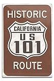 Lantern Press Highway 101, California - Historic Route Sign 82691 (6x9 Aluminum Wall Sign, Wall Decor Ready to Hang)