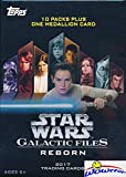 2017 Topps Star Wars Galactic Files EXCLUSIVE Factory Sealed Retail Box with 10 Packs & SPECIAL MEDALLION Card! Look for Inserts, Parallels & Autographs from Across the Star Wars Galaxy! Wowzzer!