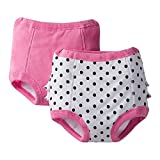 Gerber Baby Girls' 2 Pack Training Pant with Lining 2T-3T(Polka Dot, Terry Lining)