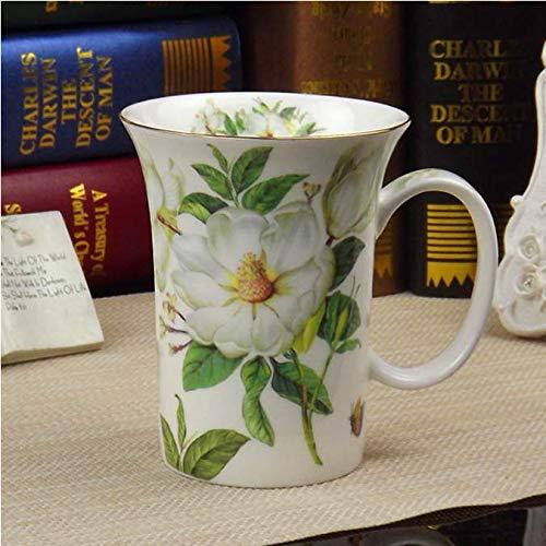 FEJK Tazas de café de cerámica Tazas y Tazas de té de Porcelana Tazas de té de la Tarde Juego de Tazas de té de la Tarde Cafetera 300 ml