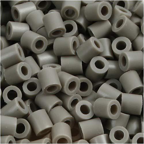 Efco Photo Pearls, perles, plastique, numéro 8 Gris foncé, 5 x 5 mm, 1100-piece